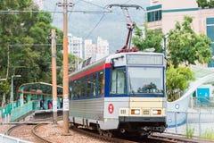 Hong Kong, Dec - 03 2015: Hong Kong MTR światła poręcz System op Zdjęcia Stock