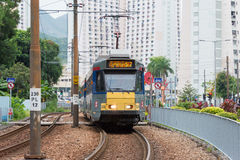 Hong Kong - Dec 03 2015: Hong Kong MTR Light Rail. The system op Royalty Free Stock Image