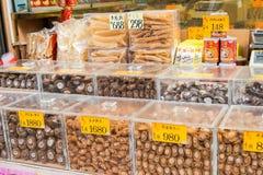 Hong Kong, Dec - 07 2015: Owoce morza ulica sławny Turystyczny punkt ja Zdjęcia Royalty Free