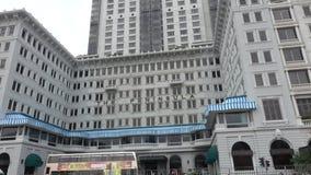 HONG KONG - DEC 23 2016 : Peninsula Hotel is a famous Kowloon landmark. 4K Video stock footage