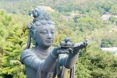 Hong Kong - Dec 11 2015: Statue at Tian Tan Buddha. a famous Tou Royalty Free Stock Images