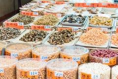 Hong Kong, Dec - 04 2015: Tai Po rynek sławny Turystyczny punkt wewnątrz Zdjęcia Stock
