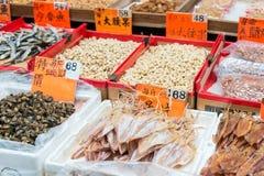 Hong Kong, Dec - 04 2015: Tai Po rynek sławny Turystyczny punkt wewnątrz Obrazy Stock