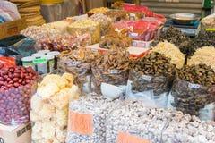 Hong Kong, Dec - 04 2015: Tai Po rynek sławny Turystyczny punkt wewnątrz Zdjęcie Stock