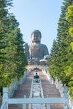Hong Kong, Dec - 11 2015: Tian dębnik Buddha sławny Turystyczny punkt obraz stock