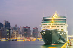 HONG KONG - December 10 ,2016: Cruise ship dock embarkment Port royalty free stock image