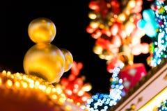 Hong Kong - 25 December 2013 - Disney-Kerstmisdecoratie bij Oceaanterminal, Tsim Sha Tsui, Hong Kong Stock Afbeelding