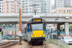 Hong Kong - December 03 2015: Hong Kong MTR ljusstång Det op systemet Arkivbilder
