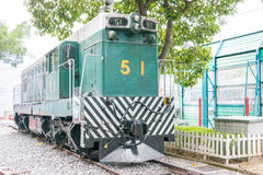 Hong Kong - December 04 2015: Hong Kong Railway Museum en berömd hist Royaltyfria Bilder