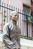 Hong Kong - December 02 2015: Staty för Dr Sun Yat-sen på Dr Sun Yat-sen Arkivbilder