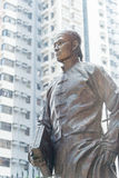 Hong Kong - December 02 2015: Staty för Dr Sun Yat-sen på Dr Sun Yat-sen Arkivbild