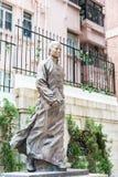 Hong Kong - December 02 2015: Staty för Dr Sun Yat-sen på Dr Sun Yat-sen Arkivfoto