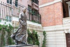 Hong Kong - December 02 2015: Staty för Dr Sun Yat-sen på Dr Sun Yat-sen Arkivfoton