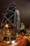 Hong Kong del centro alla notte immagine stock