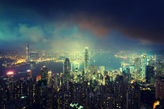 Hong-Kong del pico de Victoria Imagen de archivo
