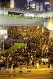 Hong Kong deltagareprotest 9/7/12 Fotografering för Bildbyråer