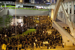 Hong Kong deltagareprotest 9/7/12 Arkivbild