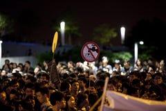 Hong Kong deltagareprotest 9/7/12 Royaltyfri Bild