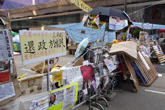 Hong Kong democracy protesters are fighting off their chief exec Royalty Free Stock Images