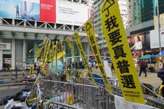 Hong Kong democracy protesters are fighting off their chief exec Royalty Free Stock Image