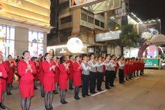 Hong Kong: Den internationella kinesiska natten för det nya året ståtar 2015 Fotografering för Bildbyråer
