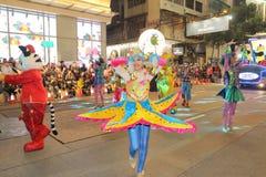 Hong Kong: Den internationella kinesiska natten för det nya året ståtar 2015 Arkivbilder