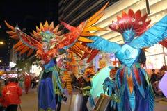 Hong Kong: Den internationella kinesiska natten för det nya året ståtar 2016 Arkivbild