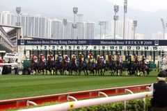 Hong Kong Derby 2009 Royalty Free Stock Photos