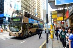 Hong Kong Des Voeux Road central Royaltyfri Fotografi