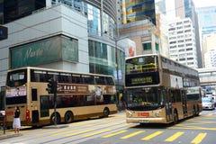 Hong Kong Des Voeux Road central arkivbilder