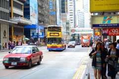 Hong Kong Des Voeux Road Central Stock Photo