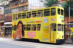Hong Kong: Des Voeux Road Tram Royalty Free Stock Images