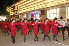 Hong Kong: Desfile chino internacional 2016 de la noche del Año Nuevo Foto de archivo libre de regalías
