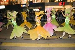Hong-Kong - desfile del Año Nuevo Foto de archivo libre de regalías