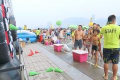 Hong Kong: Deslize a cidade Imagem de Stock Royalty Free