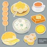 Hong Kong-dessert royalty-vrije illustratie