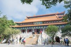 Hong Kong - 10. Dezember 2015: PO Lin Monastery ein berühmtes historisches sitzen Lizenzfreie Stockbilder