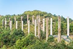 Hong Kong - 11 dicembre 2015: Percorso di saggezza un punto turistico famoso nella N Fotografia Stock