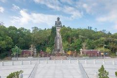 Hong Kong - 11 dicembre 2015: Tian Tan Buddha un punto turistico famoso Immagini Stock
