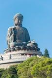 Hong Kong - 11 dicembre 2015: Tian Tan Buddha un punto turistico famoso Fotografie Stock