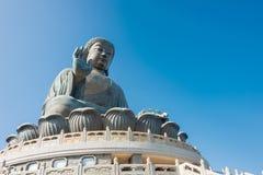 Hong Kong - 11 dicembre 2015: Tian Tan Buddha un punto turistico famoso Fotografia Stock