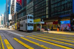 Hong Kong Ding Ding Tramway Royalty Free Stock Images