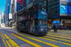 Hong Kong Ding Ding Tramway Royalty Free Stock Photography