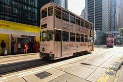 Hong Kong Ding Ding Tramway Royalty Free Stock Photo