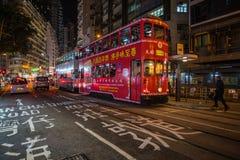 Hong Kong Ding Ding Tramway Stock Photos