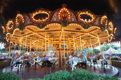 Hong Kong Disneyland Carousel Night photos libres de droits