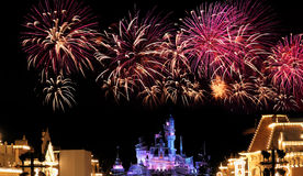 Hong kong disneyland fireworks Royalty Free Stock Photography