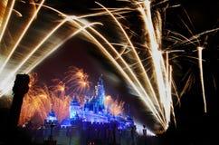 Hong kong disneyland fireworks Stock Photo