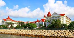 Hong Kong disneyland hotell royaltyfria bilder