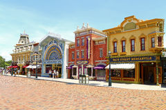 Hong kong disneyland main street Royalty Free Stock Photos